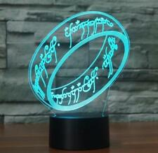 3D The Lord of the Rings 7 Color LED Night light USB Desk Lamp USPS Big Size