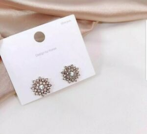 Hot Lady 18k rose gold plated crystal Crawler Climber Cuff Earring 1Pair jewelle