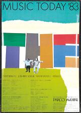 Original Vintage Poster Music Today Festival 1983 Japanese