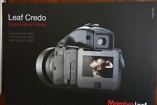 New Mamiya brochure for Leaf Credo 80MP/60 MP/40 MP digital back Sinar Phase One