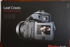 New Mamiya brochure for Leaf Credo 80MP/60 MP/40 MP digital back Sinar Phase One
