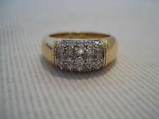 Anello 30 Diamanti circa 0,80 ct 750 Oro giallo Orecchino 18 K Gold 6,2 g