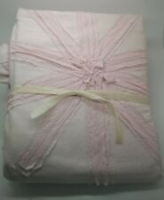 Pottery Barn Kids Sparkle Star Duvet Cover Pink Twin #1196