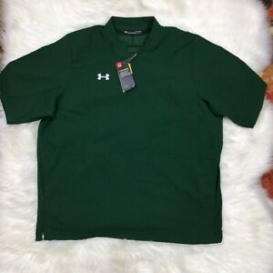 NWT Under Armour Storm Golf 1/4 Zip Pullover Short Sleeve Green Water Repel