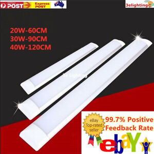 10Pcs LED Slim Ceiling Batten Light Daylight 60CM 90 120CM Coolwhite 6500K 2-4FT