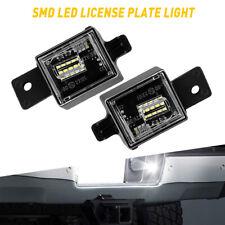 Full White Led License Plate Light Tag Kit For 2014 Chevy Silverado Gmc Sierra