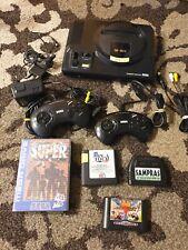 Sega Mega Drive Schwarz Spielekonsole (PAL) mit Spielen , Kabeln und Conzrollern