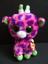 "Nwt Ty Beanie Boos 6"" Giraffe Gilbert Pink Plush Boo Sparkly Green Eyes New"