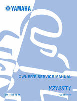 Yamaha YZ125T1 YZ125 2004 Owners Service Manual, FREE SHIPPING
