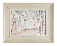 """""""Untitled"""" (Village Scene) Watercolor on Paper by Charles Allyn Gordon 21x16"""""""