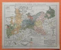 Preussen historische Karte territoriale Entwicklung Landkarte von 1895   DR