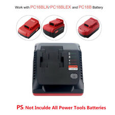 PORTER-CABLE 18V Slider Li-ion&Ni-CD/MH Batteries PCXMVC Charger for PC18B/BLX