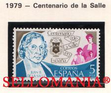 1979 CENTENARIO DE LA SALLE SAINT JEAN BAPTISTE SALLE EDIFIL 2511 ** MNH TC21178