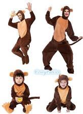 Men's  Women's Boy's Girl's Monkey Family Costumes Party Animals