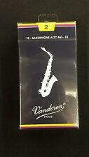Vandoren Box of Ten Size 2 Reeds Alto Saxophone SR212