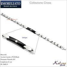 Bracciale Uomo Morellato Collezione Cross KR19 -69- Acciaio -PVd Black -Diamante