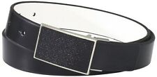 Kenneth Cole REACTION Men's Beaded Plaque Buckle Belt 34