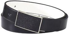 Kenneth Cole REACTION Men's Beaded Plaque Buckle Belt 42