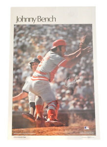 """1978 Sports Illustrated Johnny Bench Poster Measures 24"""" X 36"""""""