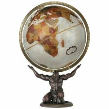 "Replogle Geographic Atlas The Titan 12"" Tabletop Globe Bronze Base World Man"