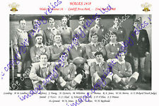 WALES 1968 - WELSH RUGBY TEAM PHOTOGRAPH (v France) at CARDIFF ARMS PARK