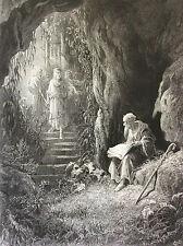 Gustave Doré gravure Les Idylles du Roi Alfred Tennyson 1869 Roi Arthur XIX ème