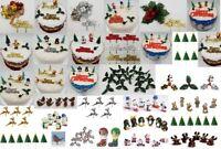 Cake Decoration sets Santa's snowmen penguin Christmas Cake yule log toppers