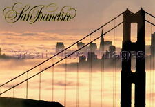 San Francisco California Golden Gate Bridge in the Fog 1980's Unused  Post Card