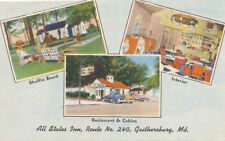 Gaithersburg MD * All States Inn Rt. 240  Diner  Cottages  Montgomery Co. 1940s