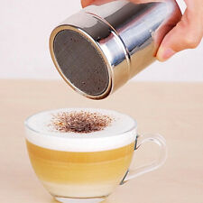 1PC Stainless Chocolate Cocoa Flour Icing Sugar Powder Coffee Sifter Duster Hot