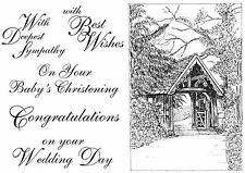 Unmounted Rubber Stamps - Lych Gate, Wedding, Sympathy, Christening - 5008