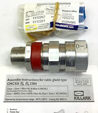 "KILLARK CMCXAB075 CLENCHER 3/4"" NPT MC CABLE GLAND CONNECTOR NEW IN PKG"