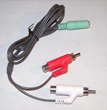 OEM Mad Catz Tritton AX180 RCA Phono to 3.5mm Female Jack Audio Cable Genuine