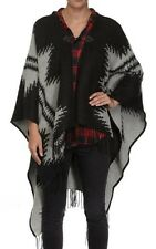 Ladies Aztec Like Blanket Cape Cardigan /Poncho Size 14-16-18-20 One Size