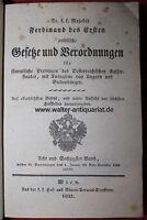 Österreich Ferdinand I. Gesetze Verordnungen 68. Band anno 1842 Original Leder