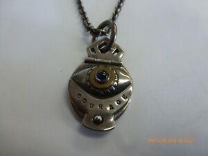 KARA VARIAN BAKER Designer Sterling Silver Courage Locket Necklace