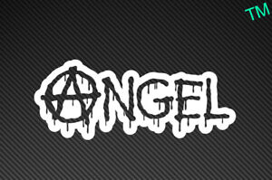"""Angel"" Anarchic, Gothic, Rebel Style Car Bumper Sticker Vinyl Decal Girl Racer"