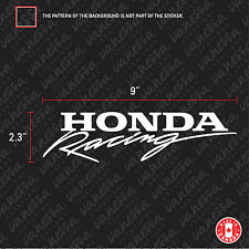 2X HONDA RACING sticker vinyl decal