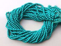 "1 Strand Turquoise Round Ball Smooth Plain Gemstone Loose Beads 12""Inch 3-4mm"