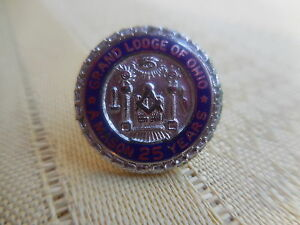 Vintage  pin-badget,Masons logo  for  Grand Lodge of Ohio  A Mason 25 years