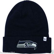'47 Brand Seattle Seahawks Blue Raised Basic Knit Cuffed Winter Beanie Hat