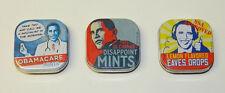 President Obama Set of 3 Different Breath Mints In Illustrated Metal Tins SEALED