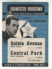 Spartito GIOVANNI FENATI Quinta avenue - Central Park 1953 Sheet music Jazz