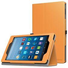 MoKo ZJ Case Amazon Kindle Fire HD 8 2015, Auto Wake, Folding Cover- Orange