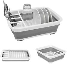 Camper Kitchen Accessories Collapsible Compact Dish Drainer Drying Rack Set US