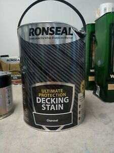 Ronseal ultimate protection decking stain 5l -charcoal
