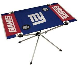 New York Giants Endzone Tailgate Table [NEW] NFL Portable Chair Fold Party