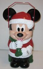 Disney Parks Mickey Santa Clause Holiday Christmas Popcorn Bucket - Red