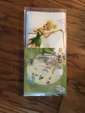 NWT Disney Tinker Bell Fairies Peel And Stick Wall Decals Stickers Glitter