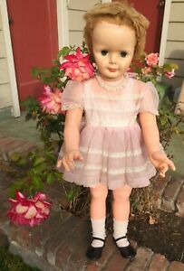 "Vintage Patti Playpal Type/Clone 35"" Companion Doll Original Clothes Sleep Eyes"